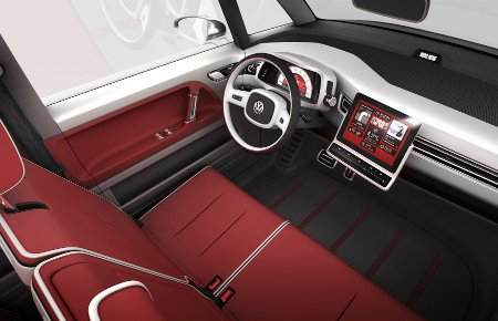 Volkswagen Bulli concept vehicle interior front