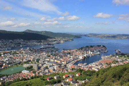 View from Mount Floyen, Bergen