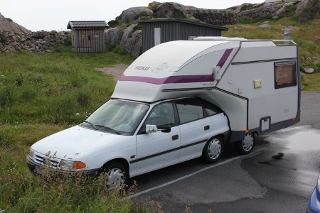Heku Carcamp motorhome and Vauxhall Astra unit