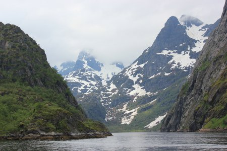 Sailing into Trollfjord, Lofoten Islands