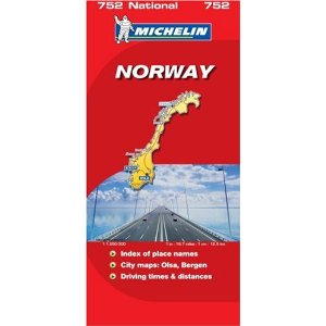 Michelin Norway folding map (752)