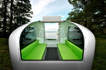 Inside the Sealander Caravan / Boat