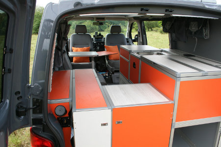Inside the Terra Camper Terock conversion