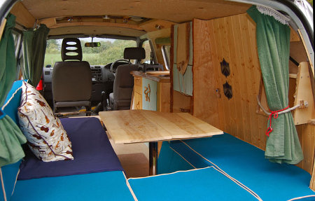 Another View Inside Davids DIY Toyota Hiace Camper Conversion