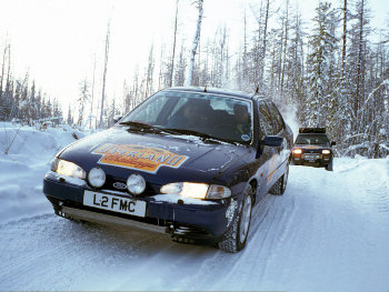 A Ford Mondeo from the 1993 London-New York Overland Challenge