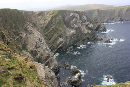 Cliffs at Hermaness Nature Reserve, Unst