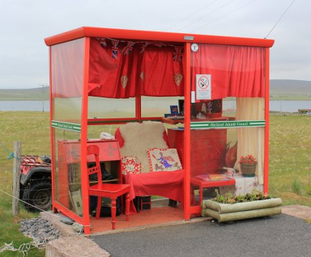 Britain's most northerly bus stop, Unst