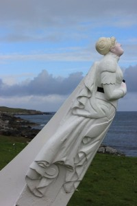 The White Wife statue on Yell