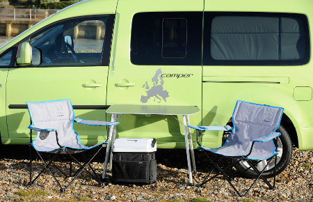 The VW Caddy Maxi Camper with accessories