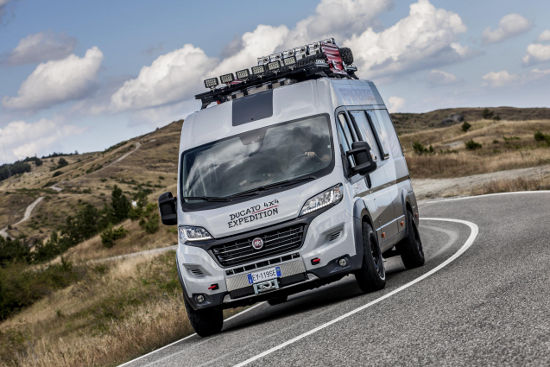 Fiat Showcases Ducato 4 215 4 Expedition Concept Camper Motorhomeplanet Co Uk