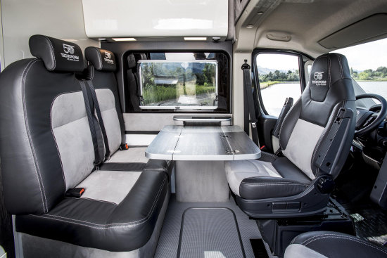 Fiat Ducato expedition camper interior seating