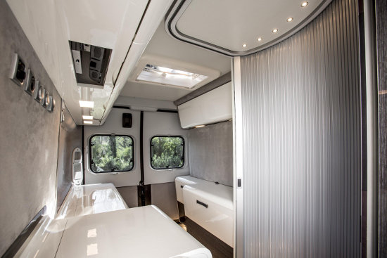 Fiat Ducato expedition concept interior rear area