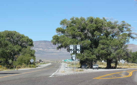 The start of Highway 375, at Crystal Springs