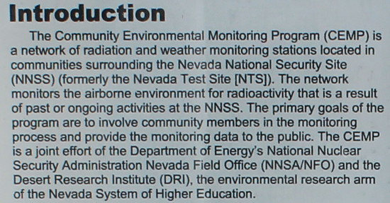 Nevada Test Site radiation monitoring