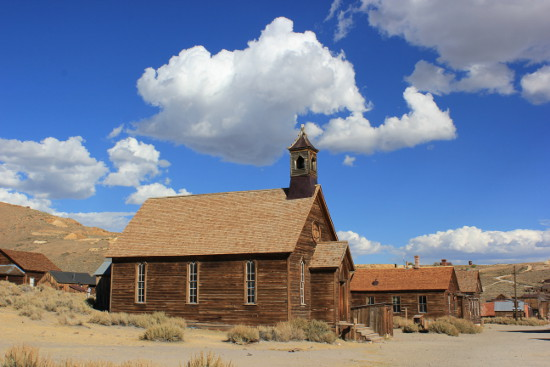 The old church in Bodie