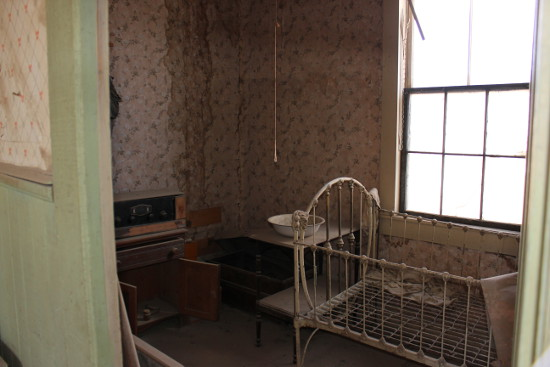 Inside an old house in Bodie