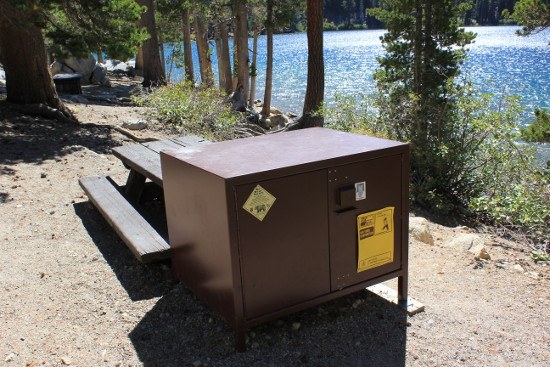 Bear-proof locker at Lake George, Mammoth
