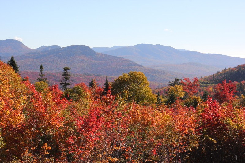 Fall colours at their peak in New Hampshire