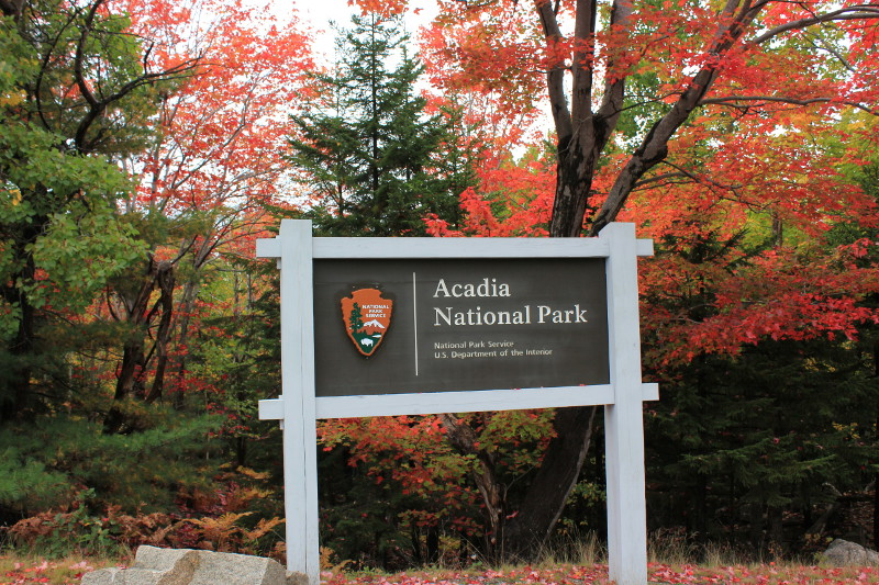 Entering Acadia National Park