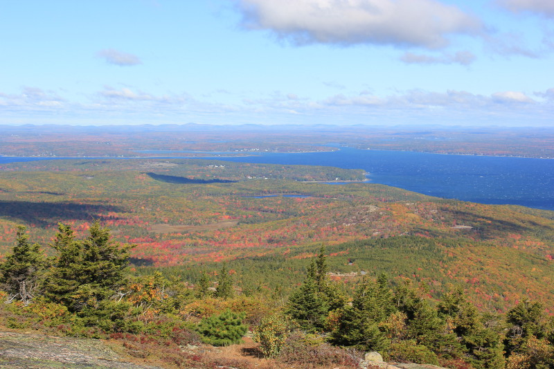 Views from the summit of Cadillac Mountain, Acadia NP