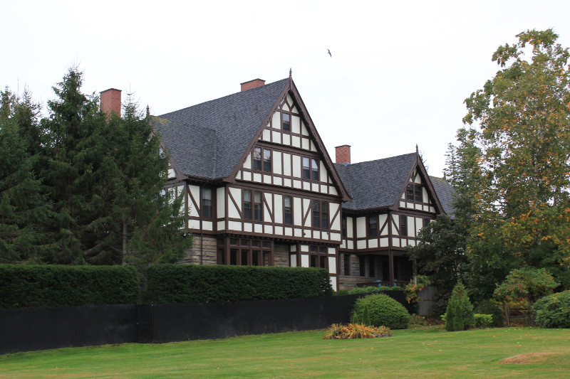 Mock tudor house on the shoreline of Mount Desert Island