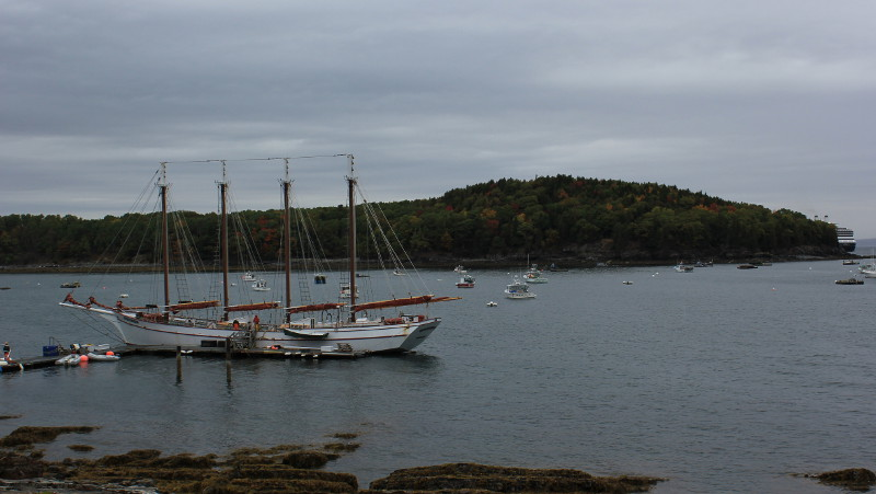 A sailing ship in Bar Harbour