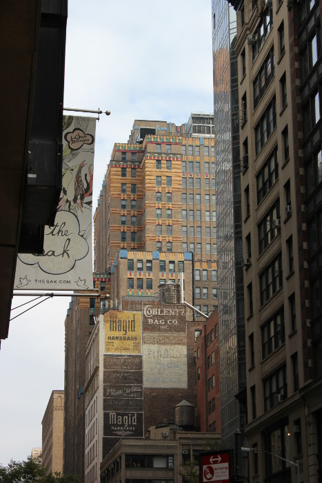 New York -- old advertising signs