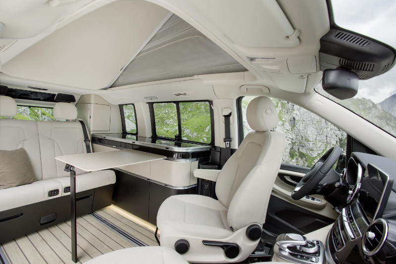 Mercedes Marco Polo campervan daytime interior