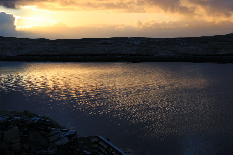 Sunrise over Burra Voe