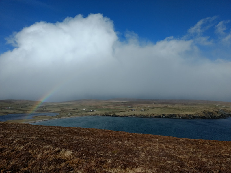 Rainbow view, Fetlar