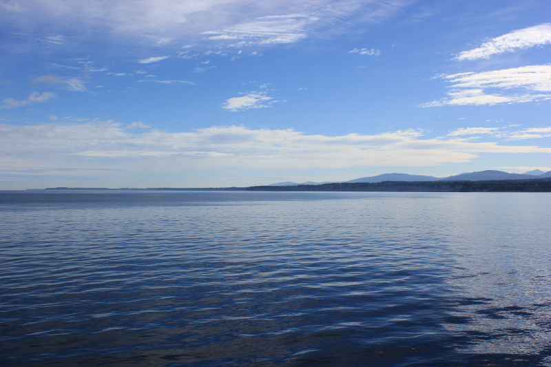 Sailing from Victoria, Canada, to Port Angeles, USA.