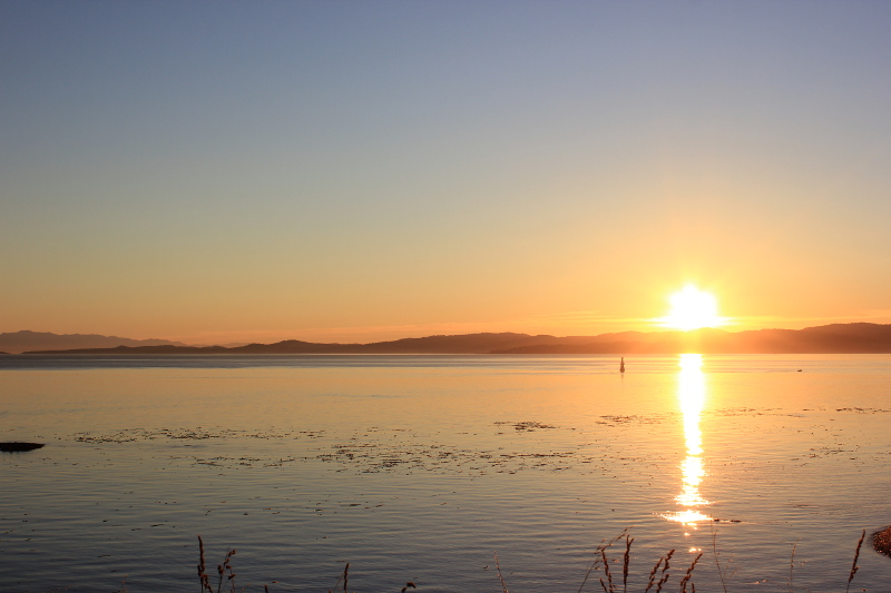Sunset in Victoria, Vancouver Island, BC, Canada.