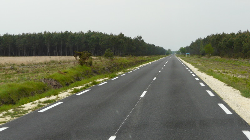 Single carriageway road in France