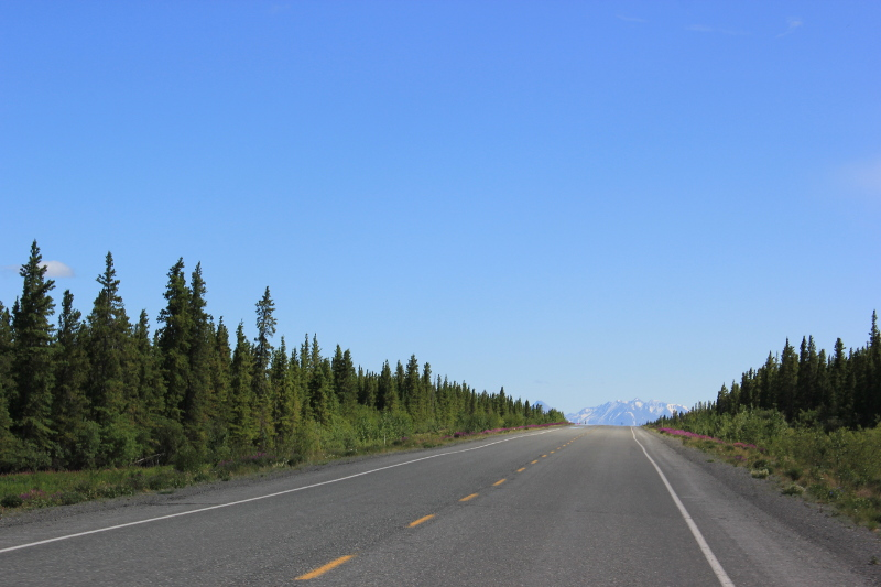 Driving to Haines Junction, Canada