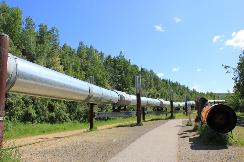 Trans-Alaska Pipeline Viewpoint, Steese Highway Fairbanks