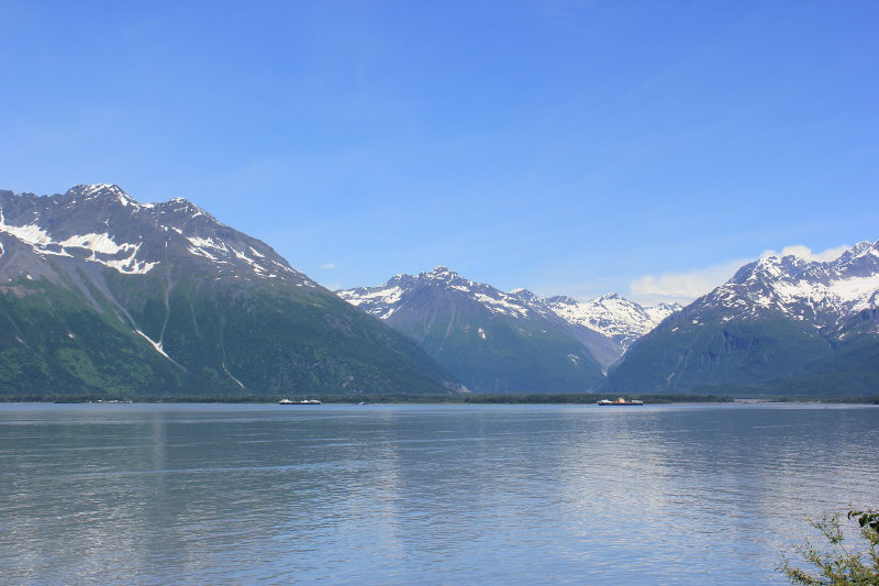 View from Solomon Hatchery, Valdez