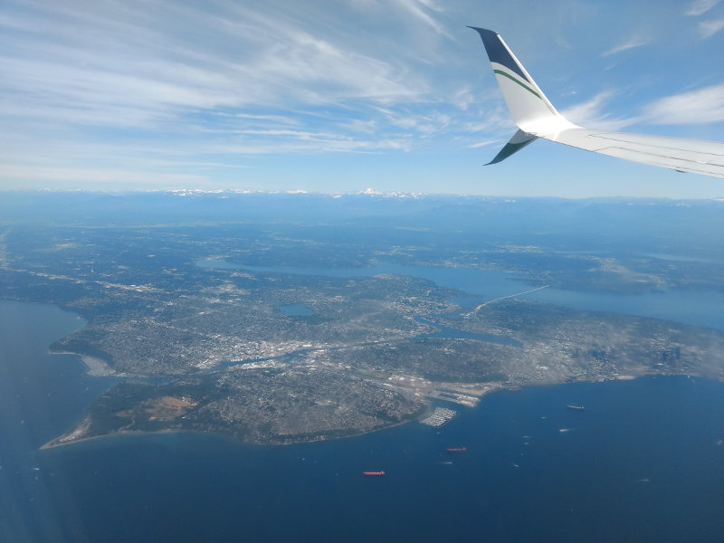 View from flight Anchorage to Seattle, Alaska Airlines