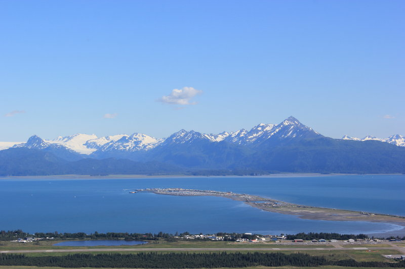 View from Skyline Driver Overlook of Homer Spit